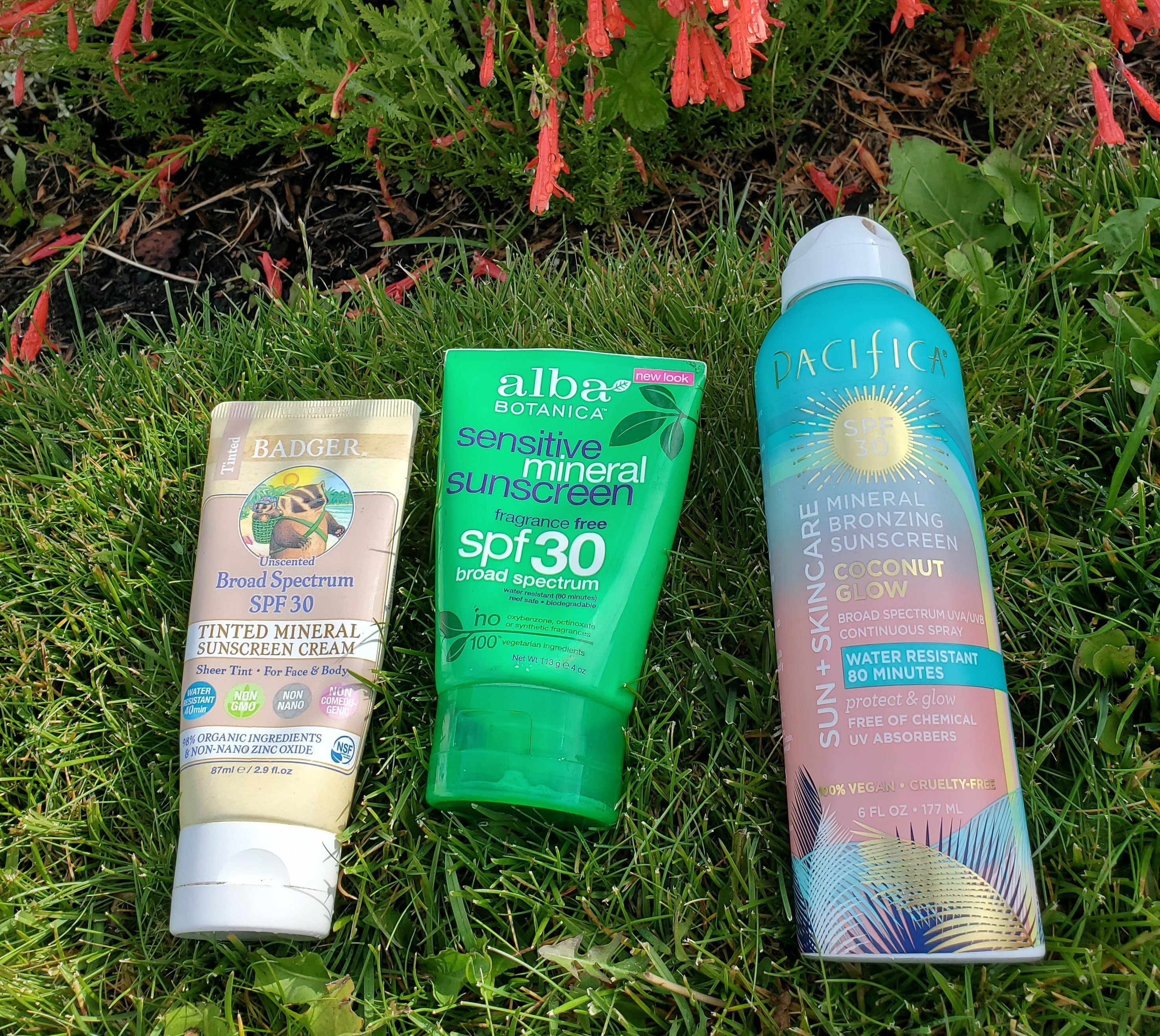 Safe mineral sunscreens